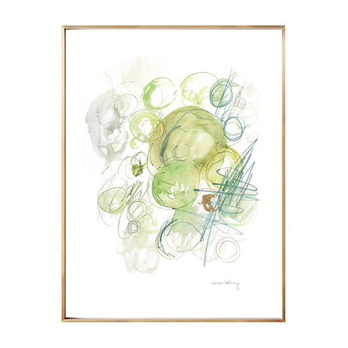 Green Circles NO.1 (Giclée quality prints $18-$82)