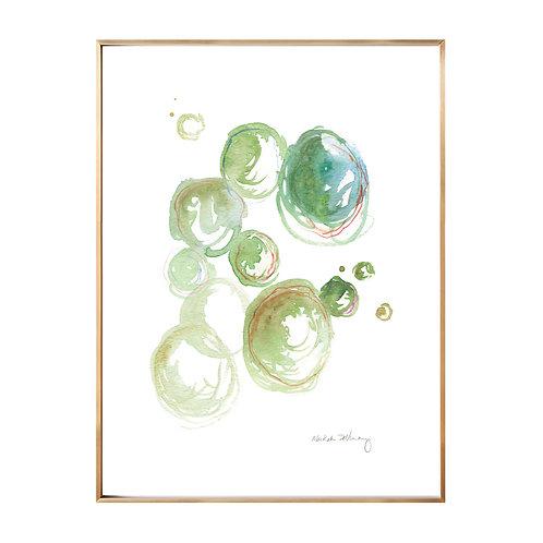 Green Circles NO.2 (Giclée quality prints $18-$82)
