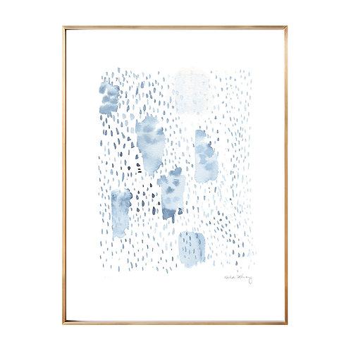Rain Pattern Original Watercolor