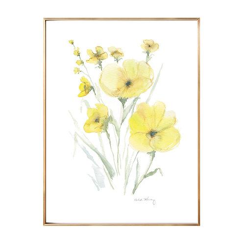 Yellow Pansies (Giclée quality prints $18-$82)