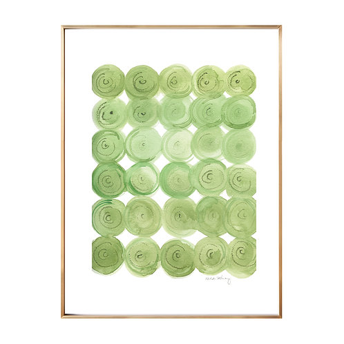 Green Circle Flow  (Giclée quality prints $18-$82)