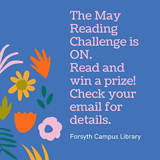 The May Reading Challenge is ON. Read an
