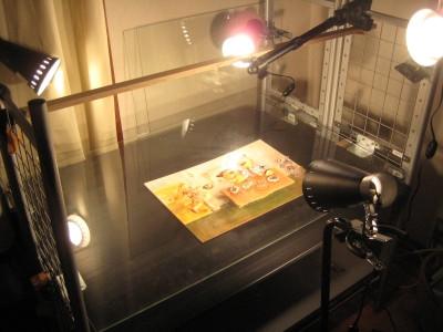 2008.2.28  半立体アニメーション「マヨネーズおとうさん」制作風景