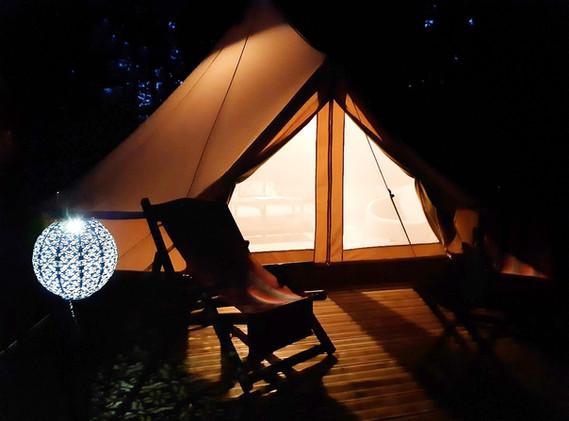 Kenya Tent en nuit