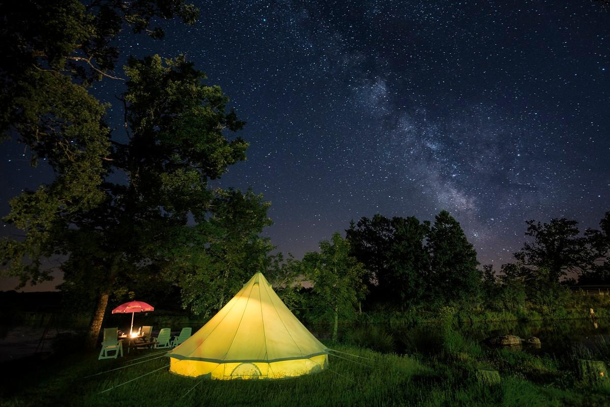 Lake tente Nuit