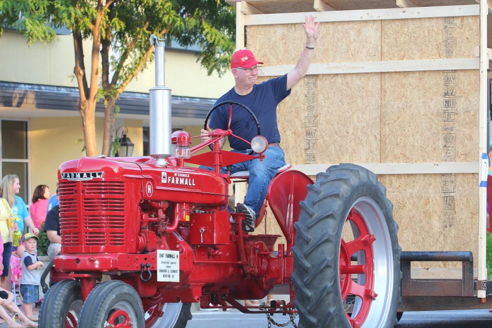 Antique Tractor in Parade.jpg