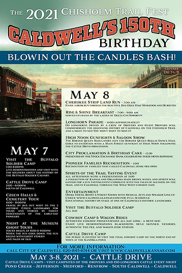 2021 Chisholm Trail Fest - Caldwell Kansas 150th Birthday