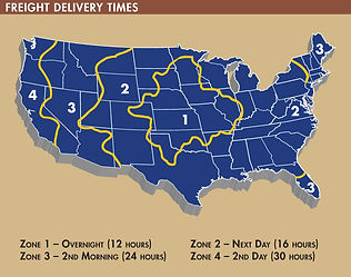 Freight Delivery Times Map