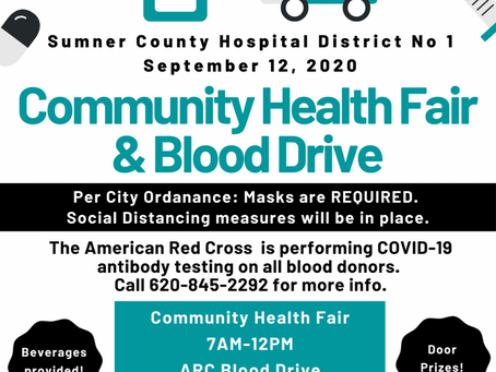Community Health Fair and Blood Drive 2020