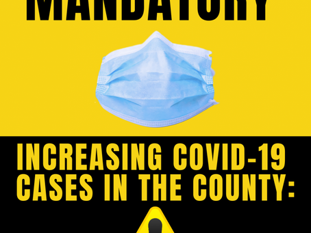 Increasing number of COVID-19 cases in Sumner County: Face Masks Mandatory; No Visitors