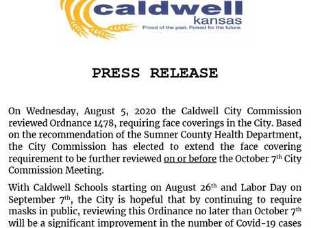 Press Release: Ordinance 1478 extended