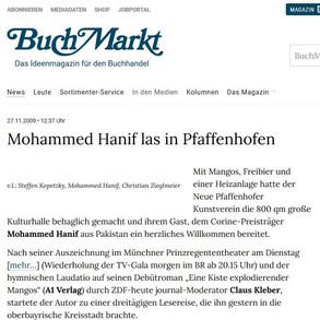 BUCHMARKT | Mohammed Hanif Lesung