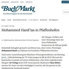 BUCHMARKT   Mohammed Hanif Lesung