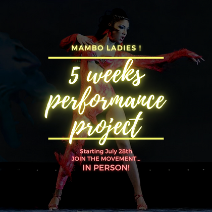 5 WEEKS PERFORMANCE PROJECT