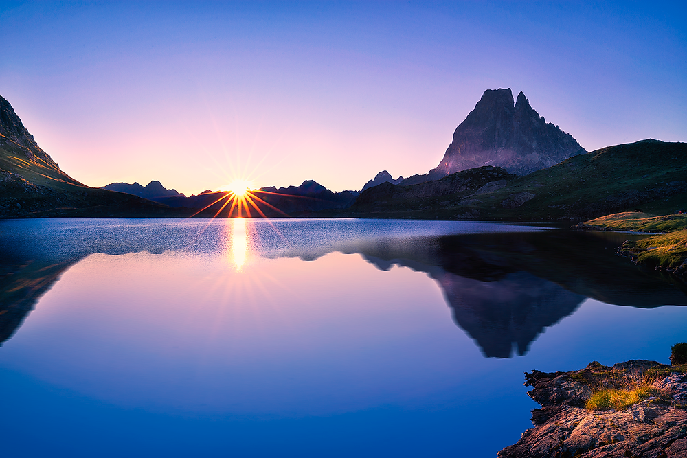 amanecer en el Lac Ayous, Midi d Ossau