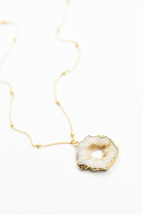 N°30 Collier Tranche d'agate