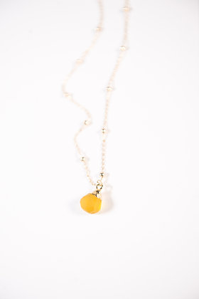 Collier Calcédoine Jaune