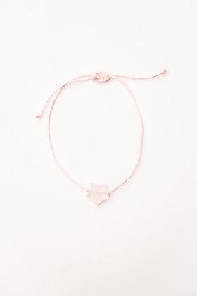 Bracelet étoile Quartz rose