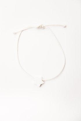 Bracelet étoile Agate Blanche