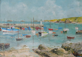 Le port de Houat - Peinture