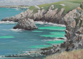 Le Cap Sizun où viennent parfois les phoques - Peinture