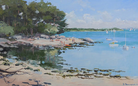 Berder une île du golfe du Morbihan - Peinture