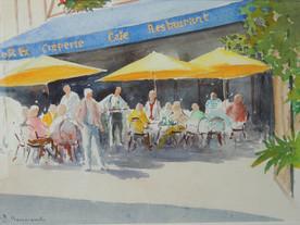 Café le St Ex à Vannes - Aquarelle