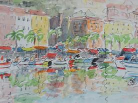 Ajaccio - Dessin aquarellé sur Carnet de voyage