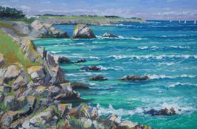 Coup de vent Pointe Cardinal Belle-Île - Peinture