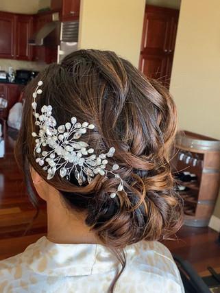 Bridal textured updo