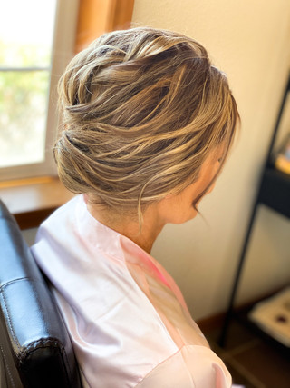 Mother of the bride textured updo
