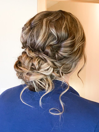 Textured bridal updo
