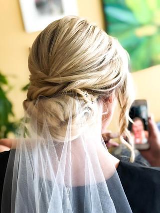 San Francisco wedding bridal updo