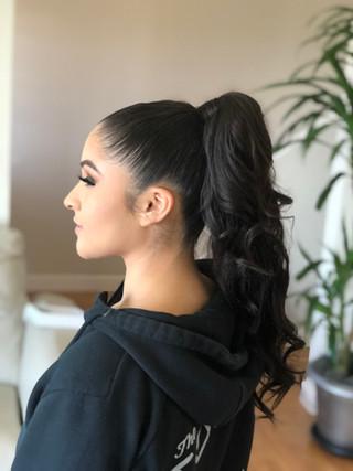 sleek high Ariana Grande Ponytail