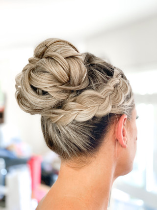 Bridal Top Knot with Braid
