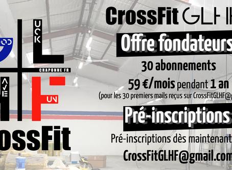 Offre fondateurs / pré-inscriptions CrossFit GLHF