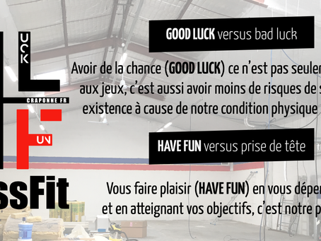 Crossfit GLHF pour good luck have fun