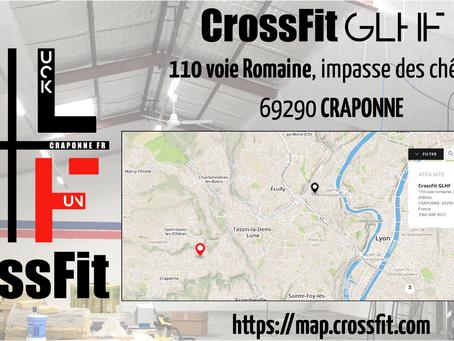 CrossFit GLHf, votre nouvelle box de CrossFit affiliée à CRAponne