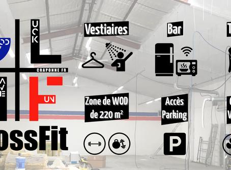 CrossFit GLHF, un espace de 375m2 dédié à la pratique du CrossFit