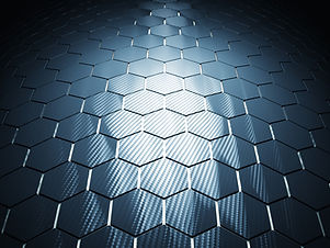 carbon fiber background hexagon pattern 3d rendering image.jpg