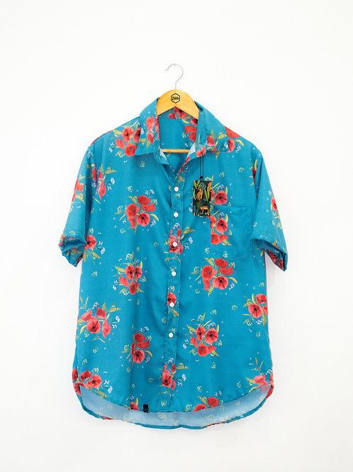 "Camisa Estampada ZIAh ""Azul Floral"""