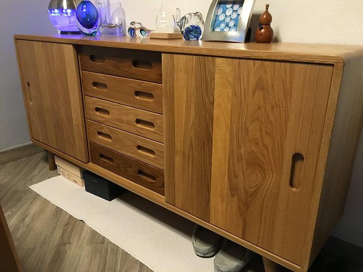 Oval Half Cabinet