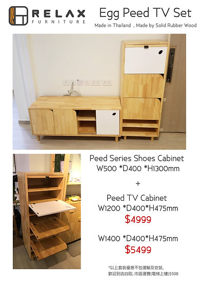 Peed TV + Shoes Cabinet