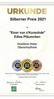 DLG Urkunde_Edles Pfläumchen Silberner Preis 2021.jpeg