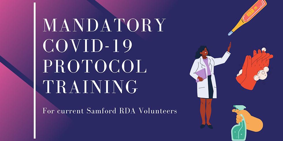 Mandatory COVID-19 Protocol Training for current volunteers Sunday 2