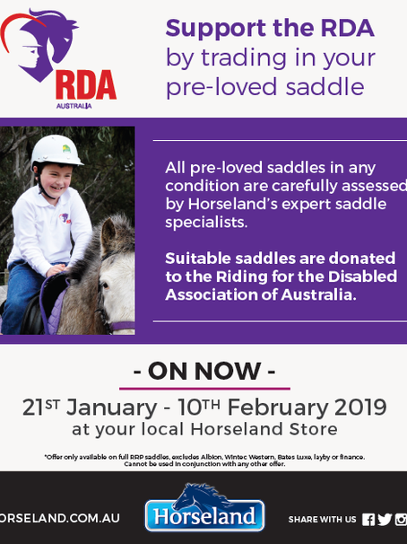Trade in your saddle and support RDA