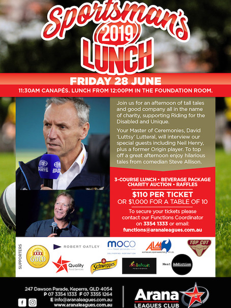 Sportsman's Lunch beneficiaries