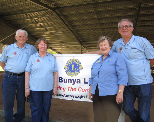 Bris Bunya Lions banner on covered arena
