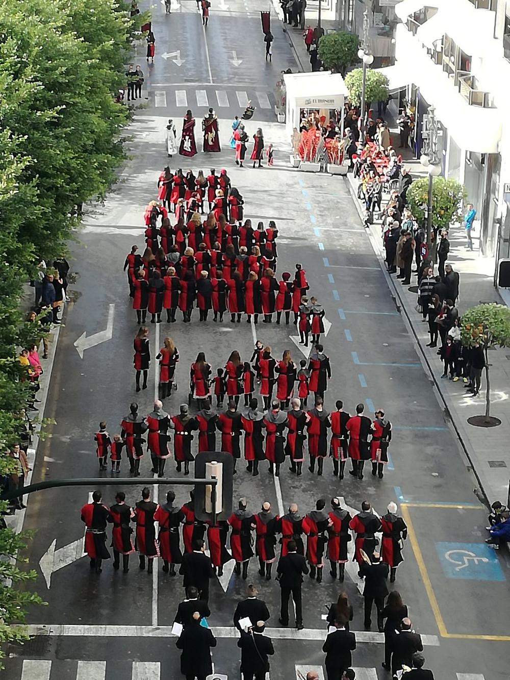 caballeros de tadmir, desfile, tadmir, orihuela, embajada, medio año festero, moros y cristianos