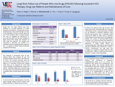 Long-term follow-up of people who use drugs (PWUD) following successful HCV therapy...